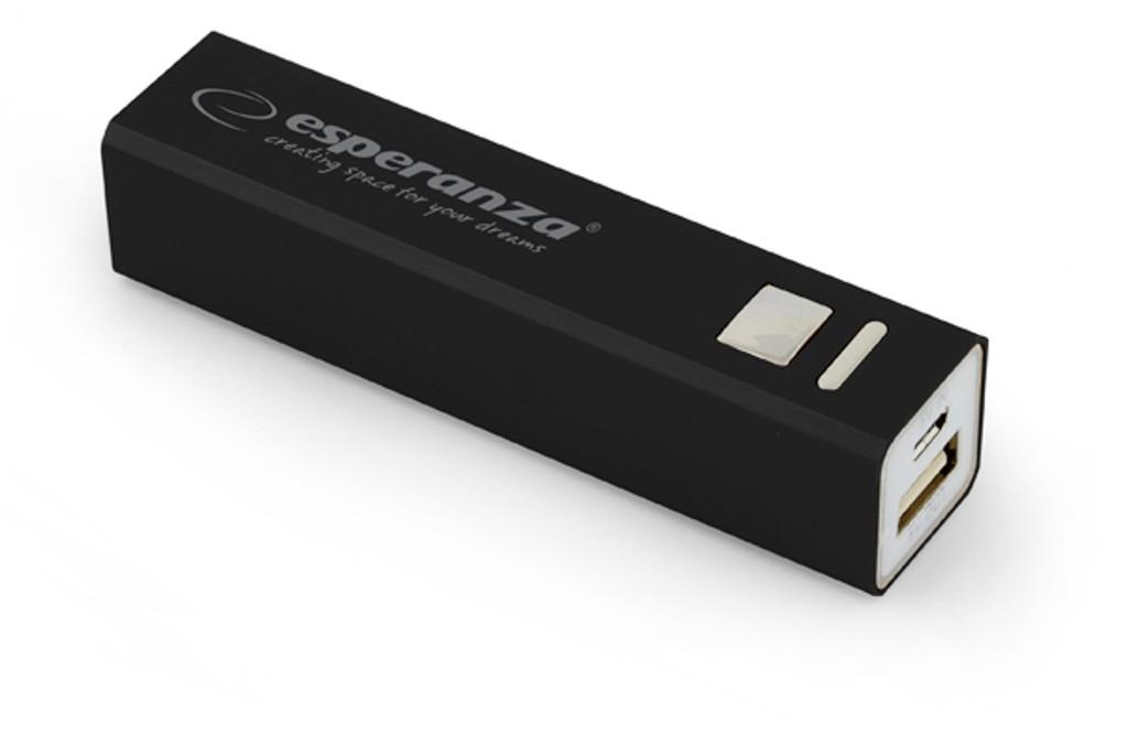 MOBILE POWER BANK ERG 2400 mAh USB microUSB Kabel Schwarz
