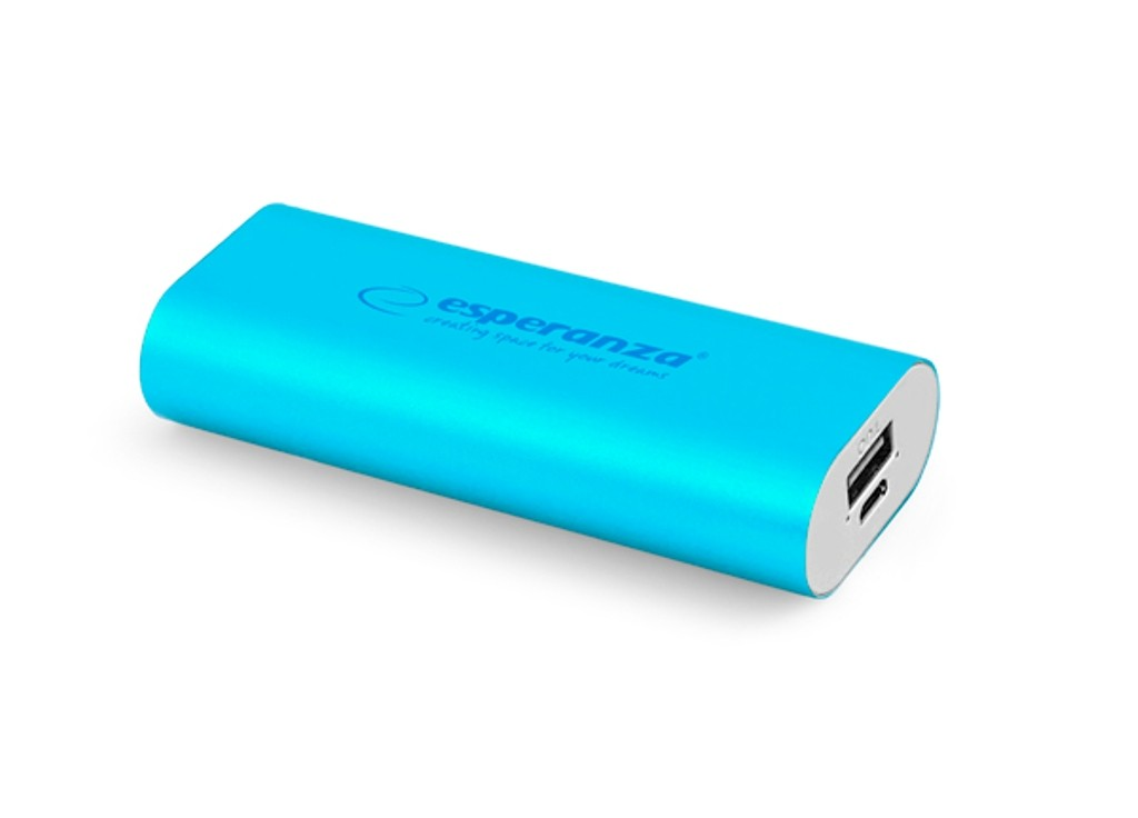 MOBILE POWER BANK HADRON 4400 mAh USB microUSB Kabel BLAU
