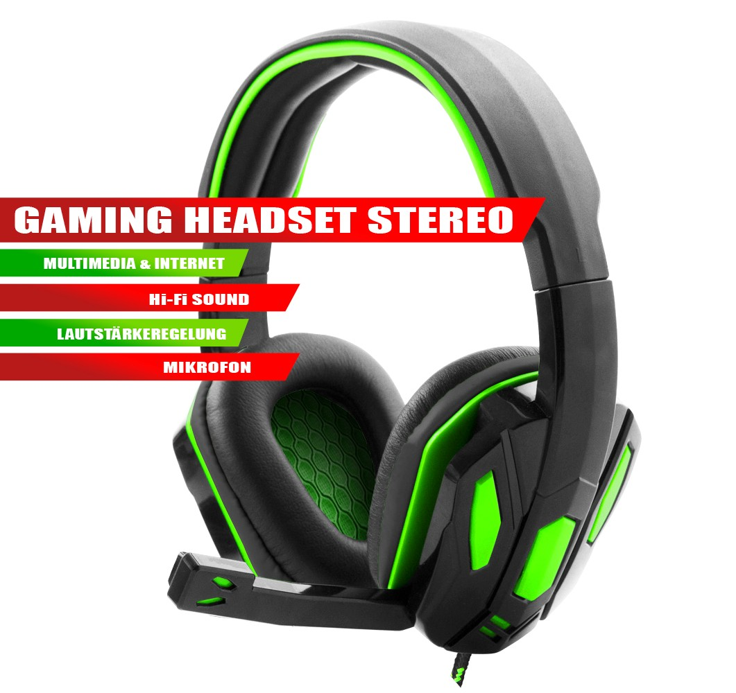 stereo headset kopfhörer mikrofon multimedia headset gaming kaufen günstig