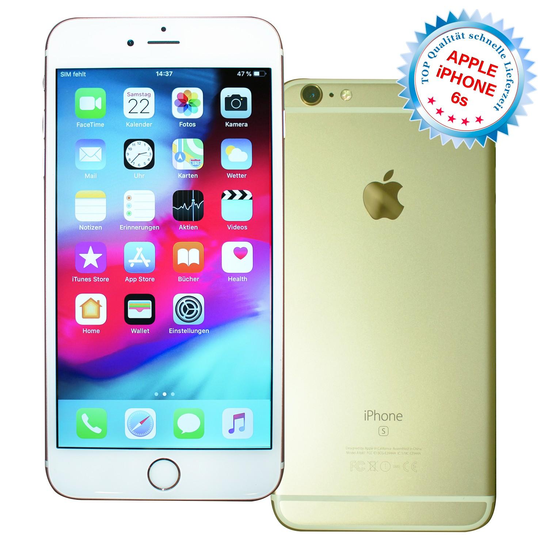 Apple iPhone 6s 64GB Gold, ohne Vertrag / ohne Simlock, Smartphone Handy Gebraucht Guter Zustand
