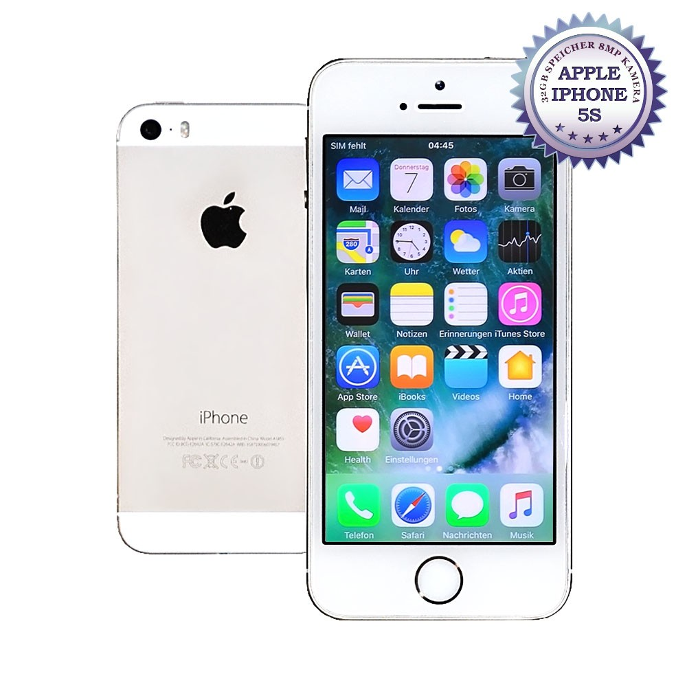 apple iphone 5s 32gb silber ohne simlock smartphone. Black Bedroom Furniture Sets. Home Design Ideas