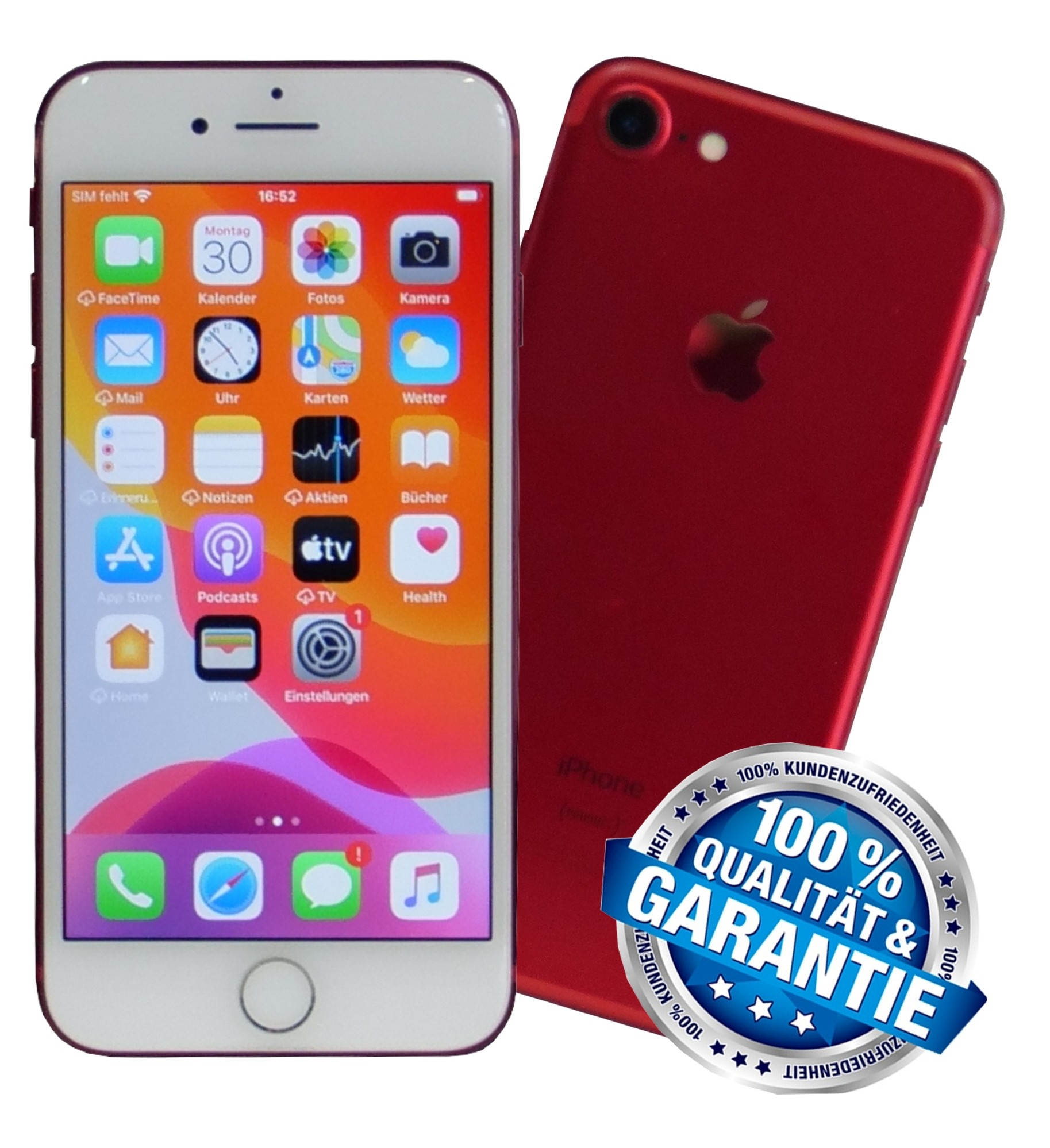 Apple iPhone 7 128GB (PRODUCT) RED Rot Smartphone (Ohne Vertrag / Simlock)