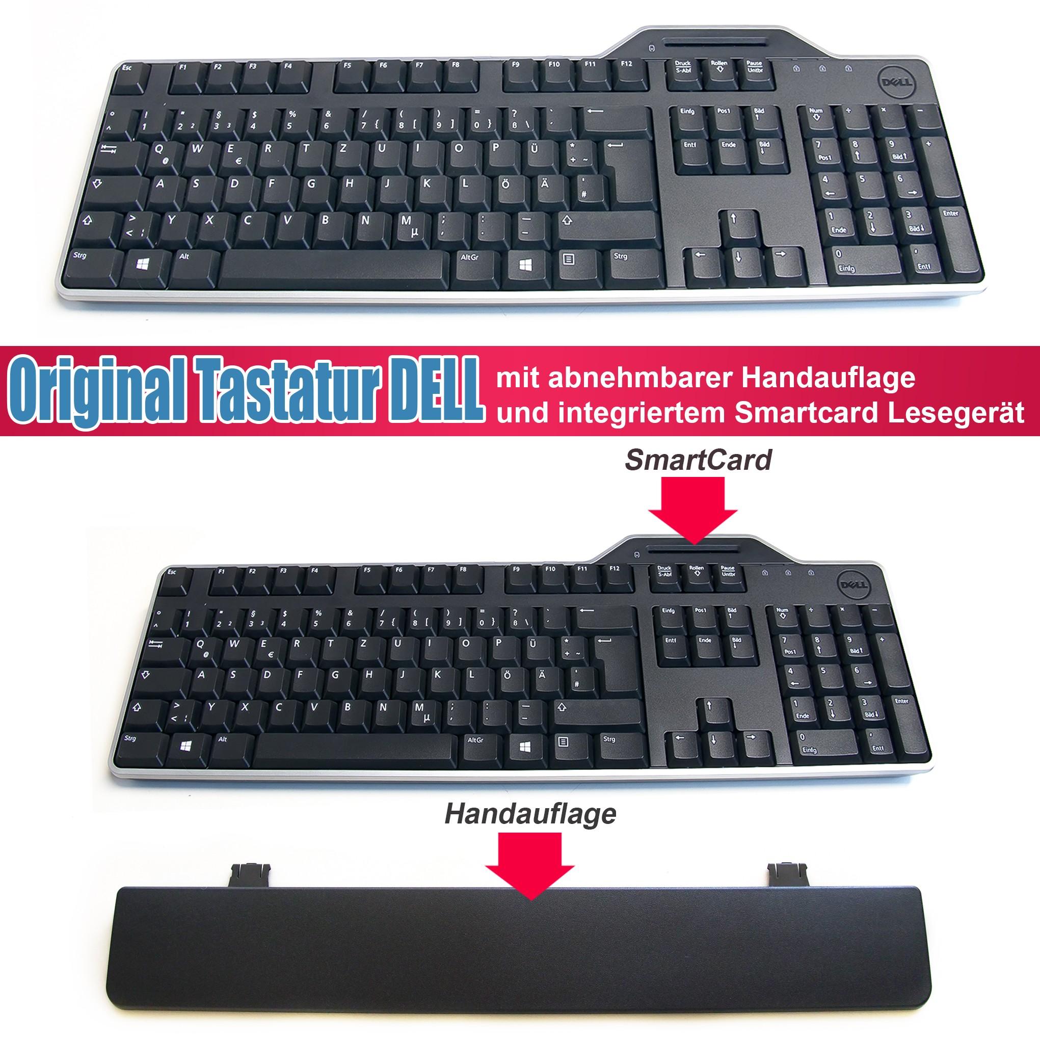 DELL KB813 580-18355 Smartcard Tastatur Deutsch QWERTZ Schwarz USB