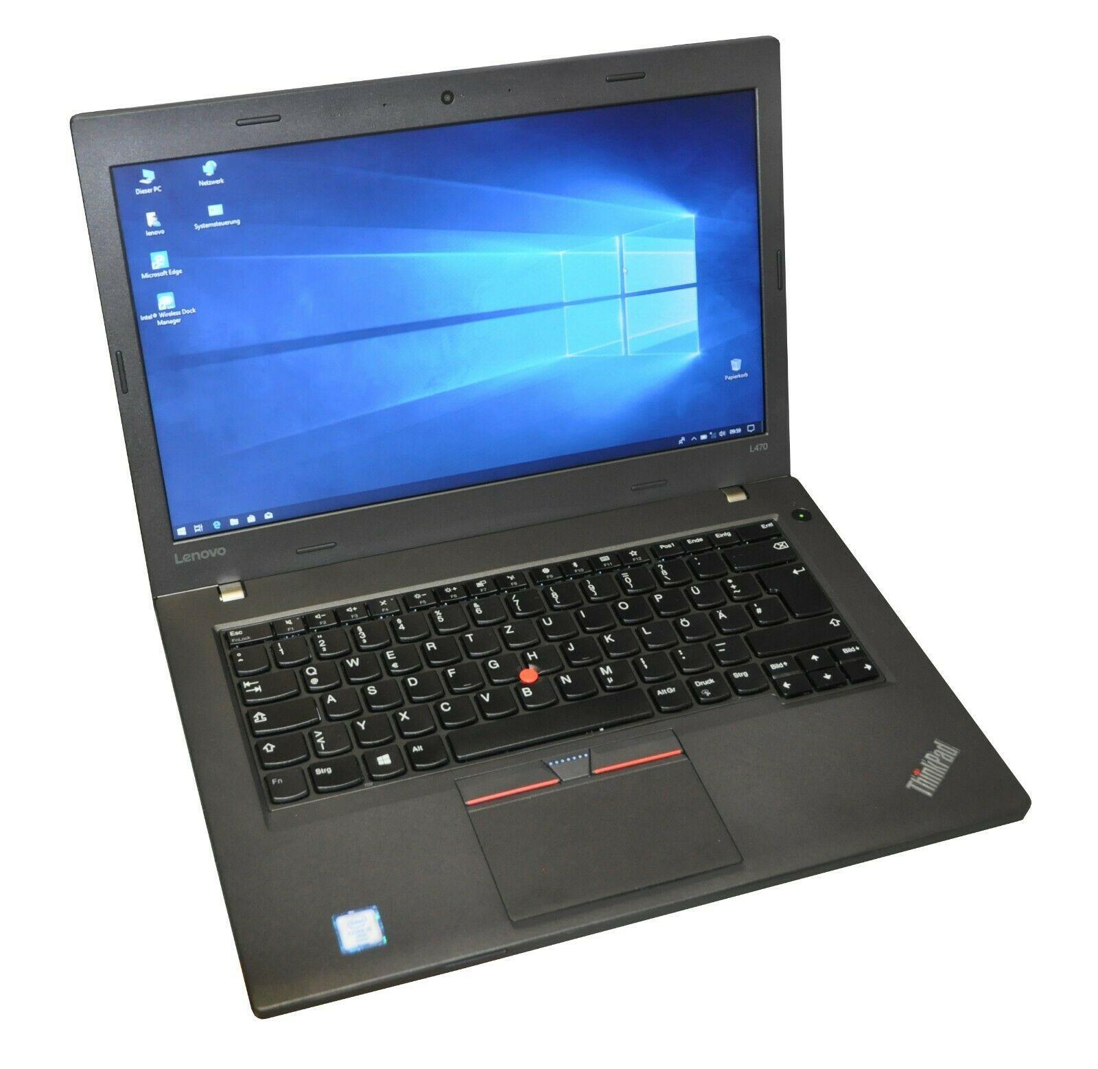 "Lenovo ThinkPad L470 14"" i5 6300U 2,4GHz 8GB DDR4 RAM 256GB SSD Win 10 DE"