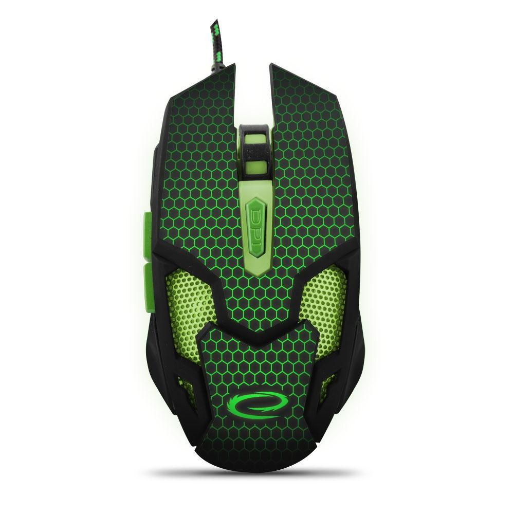 Optische Gaming Maus  6 Tasten PC 2400 DPI USB LED Beleuchtung
