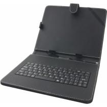 """Micro USB Tastatur Tasche Hülle Cover für  9"""" (22,9 cm) Tablet."""