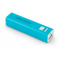 MOBILE POWER BANK ERG 2400 mAh USB microUSB Kabel BLAU