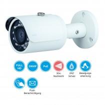2 MP Bullet IP PoE Kamera mit 30m Nachtsicht, 2.8mm Objektiv