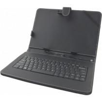 """Micro USB Tastatur Tasche Hülle Cover für 10.1"""" (25,7 cm) Tablet"""