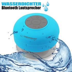Wasserfester Bluetooth Lautsprecher, kabellos, blau