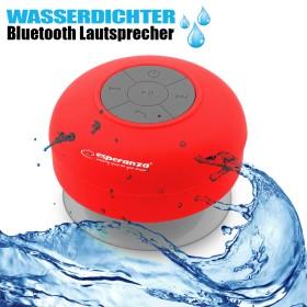 Wasserfester Bluetooth Lautsprecher, kabellos, rot
