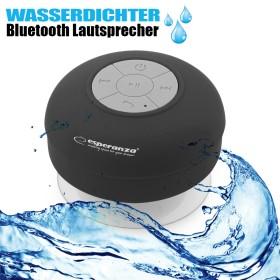 Wasserfester Bluetooth Lautsprecher, kabellos, schwarz