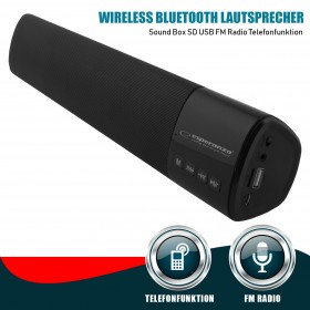COURANTE Wireless Bluetooth Lautsprecher Sound Box SD USB FM Radio Telefonfunktion