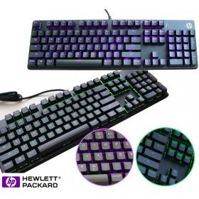 HP Pavilion Gaming-Tastatur 500 mechanisch, beleuchtet, Deutsch, schwarz