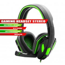 Gaming Headset Stereo Multimedia Kopfhörer mit Mikrofon Grün