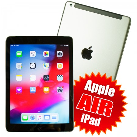 "Apple iPad Air 24.6cm (9,7"") 128GB Wi-Fi + 4G LTE Cellular Grau Ohne Simlock"